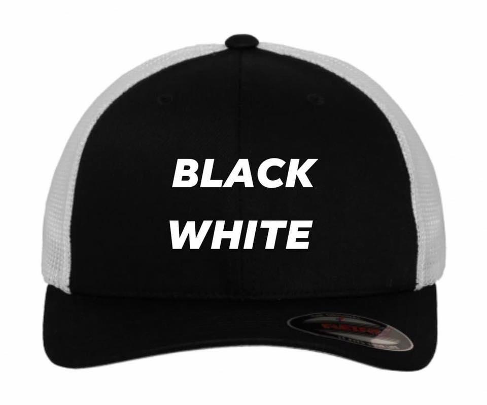 Flexfit trucker black white